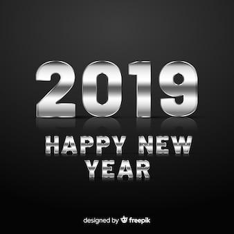 Argento nuovo anno di sfondo
