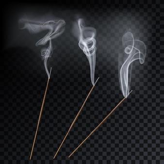 Aromaterapia con bastoncini di canna fumogena