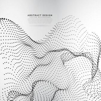 Array in particelle dinamiche di stile della maglia ondulato