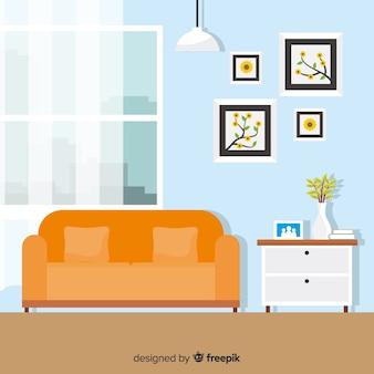 Arredamento casa moderna con design piatto