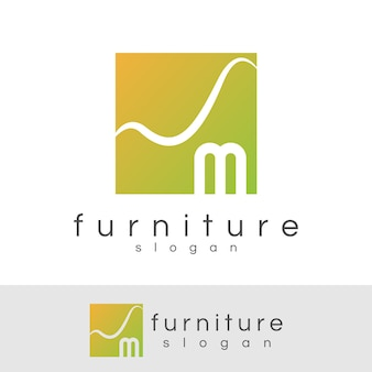 Arredamento iniziale lettera m logo design
