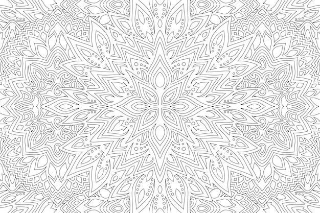Arte astratta in bianco e nero per libro da colorare