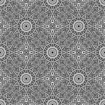 Arte astratta senza cuciture del fondo del modello di mosaico della mandala del giardino