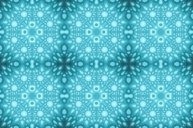 Arte blu con il modello astratto senza cuciture delle mattonelle