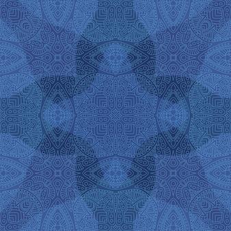 Arte blu con motivo astratto lineare senza soluzione di continuità