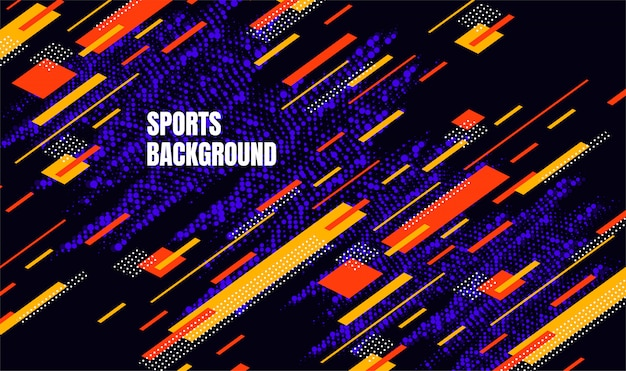 Arte colorata astratta per sfondo sport. particelle dinamiche