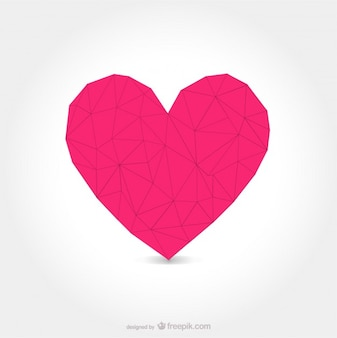 Arte cuore vettoriale forma poligonale