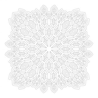 Arte del libro da colorare con design lineare quadrato