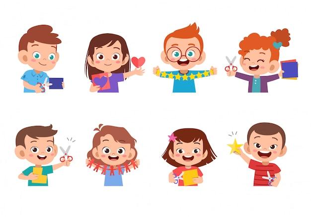 Arte del mestiere di carta per bambini