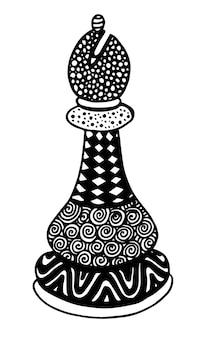 Arte dell'illustrazione di vettore del pezzo degli scacchi di bishop