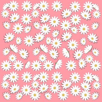Arte di carta con il fiore della margherita e la priorità bassa della sorgente