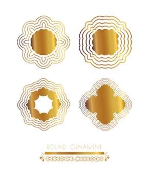 Arte dorata mandala