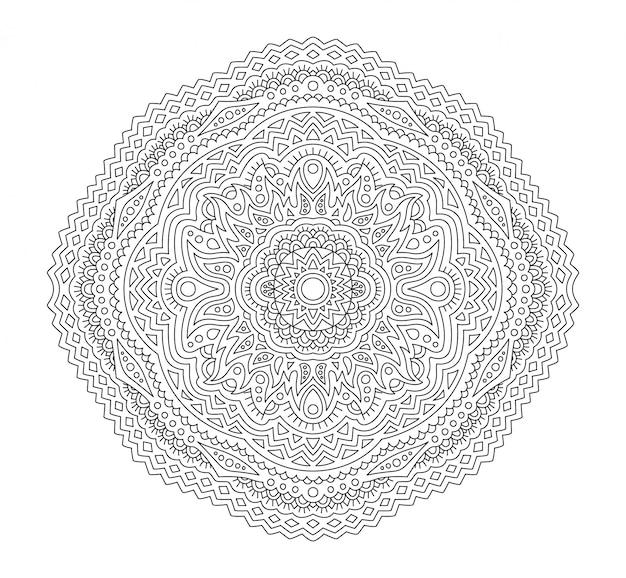 Arte per la pagina del libro da colorare con motivo lineare