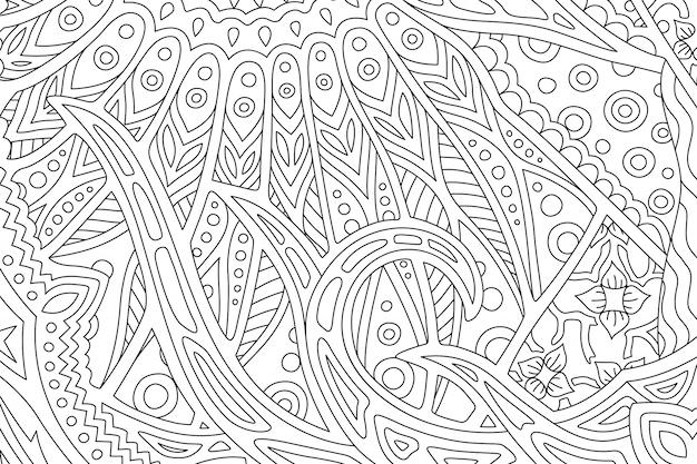 Arte per libro da colorare con vista sul mare decorativa