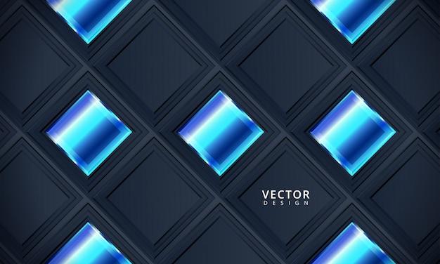 Arte tech aziendale blu scuro. sfondo