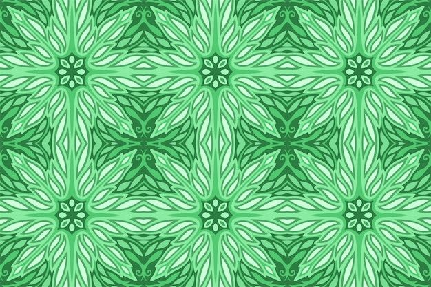 Arte verde con motivo floreale decorativo senza soluzione di continuità