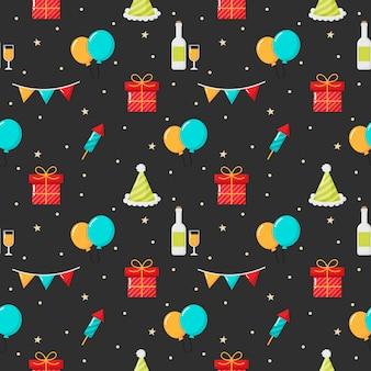 Articoli natalizi su sfondo nero