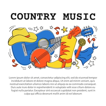 Articolo musicale country festival occidentale