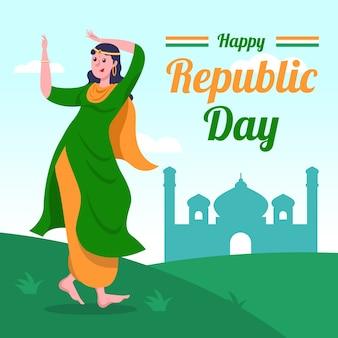 Artisitc che attinge il giorno della repubblica indiana