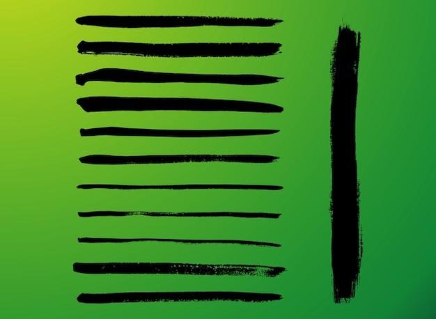Artista pennelli effetto vettore