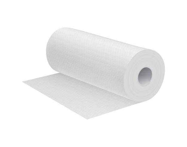 Asciugamano da cucina realistico in carta bianca