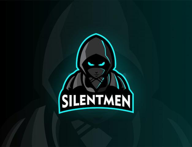 Assasis mascot logo design silentmen team
