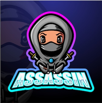 Assassin mascot esport illustrazione