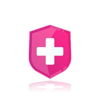 Assicurazione sanitaria, logo medico