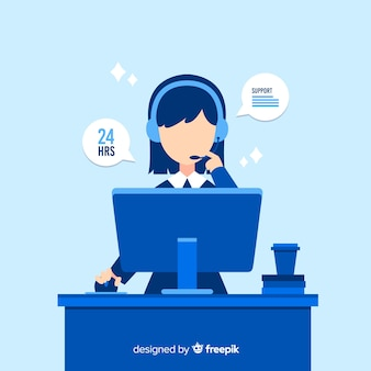 Assistente di call center per aiutare i clienti