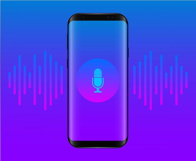 Assistente personale e riconoscimento vocale sull'app mobile.