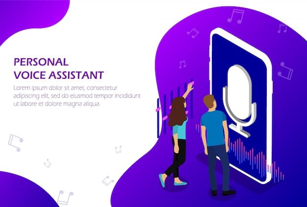 Assistente vocale personale. riconoscimento vocale.