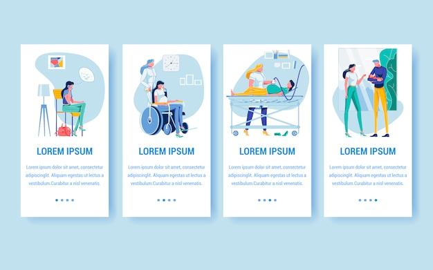 Assistenza sanitaria medica per pagine di donne in gravidanza.