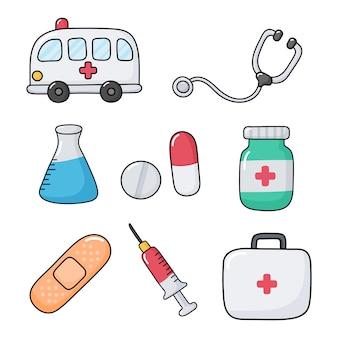 Assistenza sanitaria su bianco