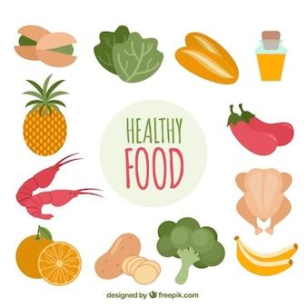 Assortimento di colorato cibo sano