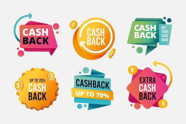 Assortimento di etichette cashback