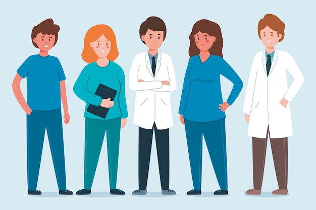 Assortimento di professionisti della salute