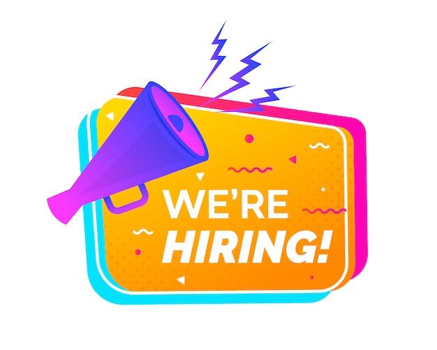Assumere banner design di reclutamento