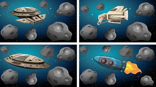 Asteroidi fianchi dello spazio