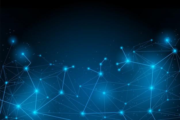 Astratta connessione futuristica