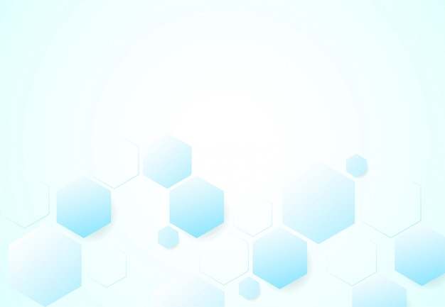 Astratte strutture molecolari esagonali in background tecnologia