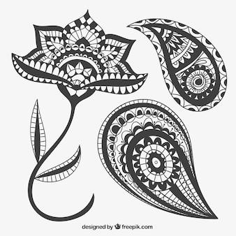 Astratti ornamenti floreali
