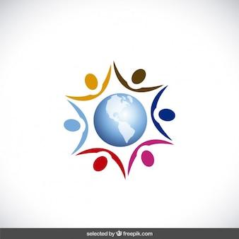 Astratti sagome umane in tutto il mondo