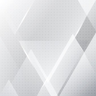 Astratto banner geometrico bianco e grigio