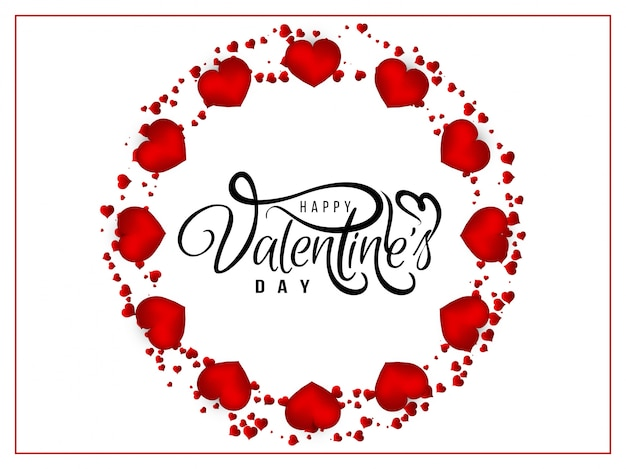 Astratto biglietto di auguri di san valentino felice