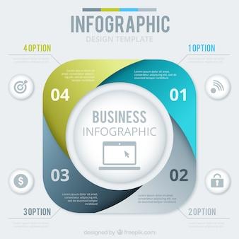 Astratto business modello infografica