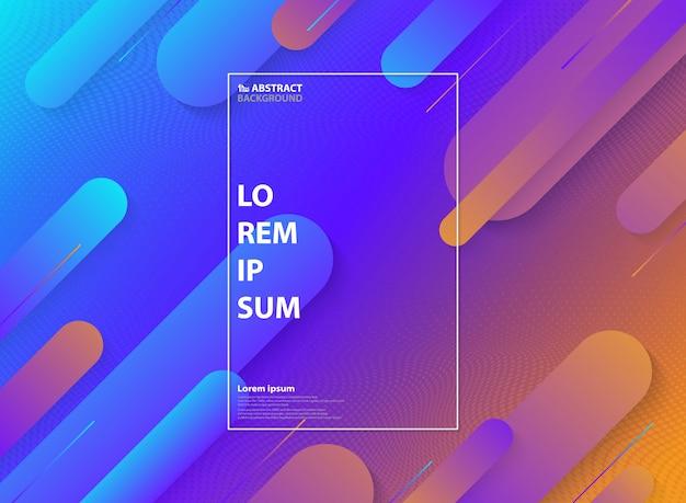 Astratto colorato di motivo geometrico minimal