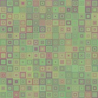 Astratto concentrico sfondo mosaico quadrato
