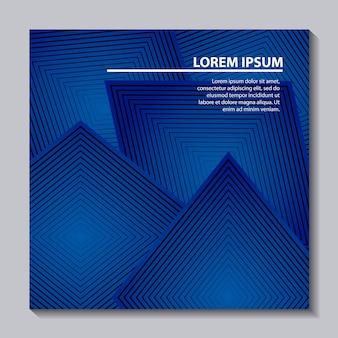 Astratto copre la struttura di forma geometrica blu di sfondo