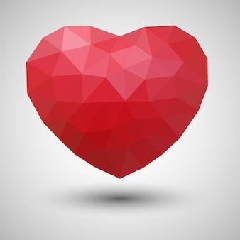 Astratto cuore poligonale