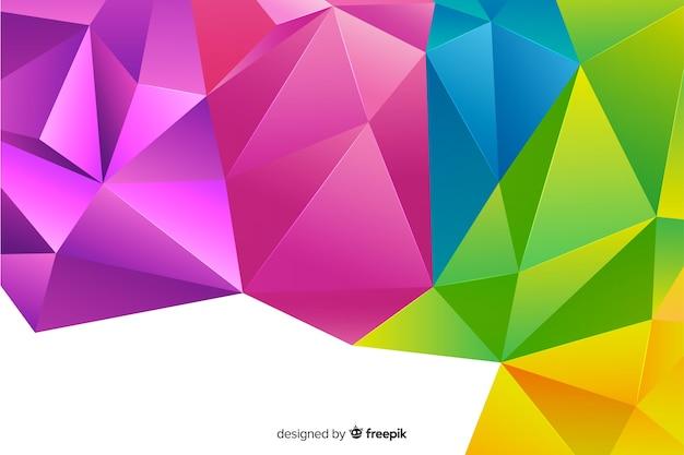 Astratto di forma geometrica tridimensionale